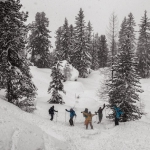 feine powdertaxi-cru im backcountry
